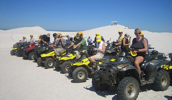 Team with Quadbikes