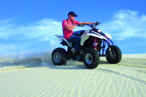Man quadbiking