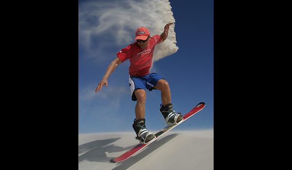 Man sandboarding