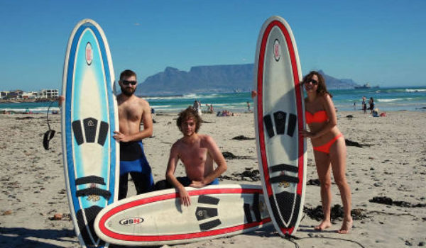 People with surfboards