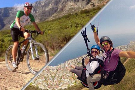 biking Paragliding
