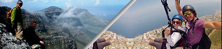 hiking and paragliding