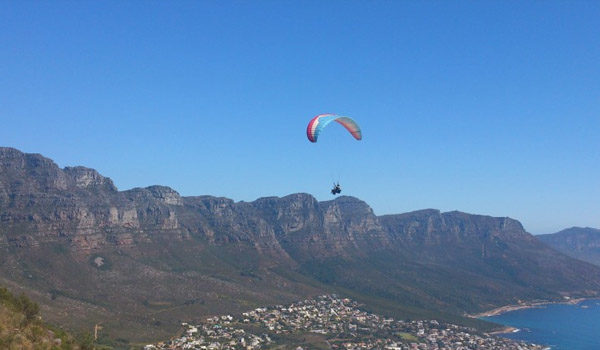 Paragliding scenery