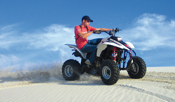 Man on quadbike