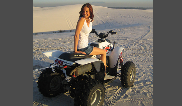 Lady on quadbike
