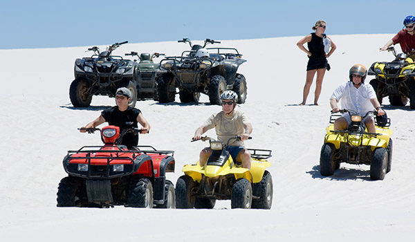 Group of quadbikers