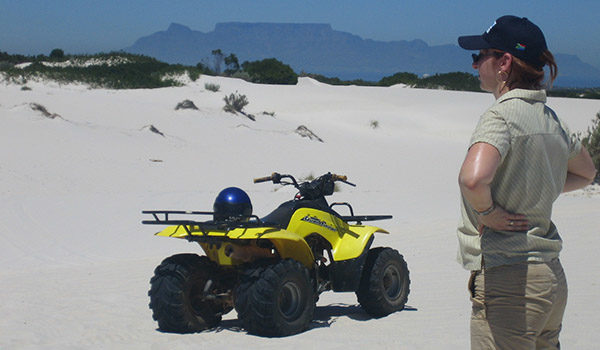 Quadbike on dunes