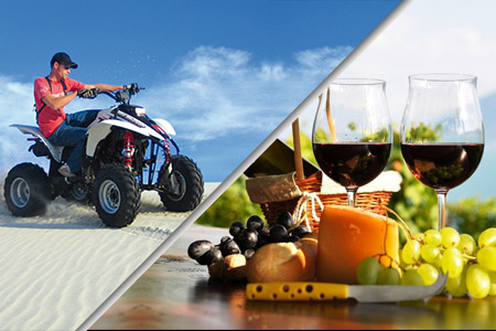 quadbiking & winetasting