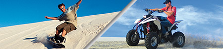 sandboarding and quadbiking