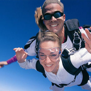 lady skydiving