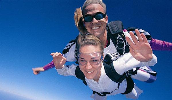 lady skydiving