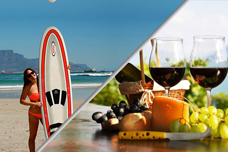 surfing & winetasting