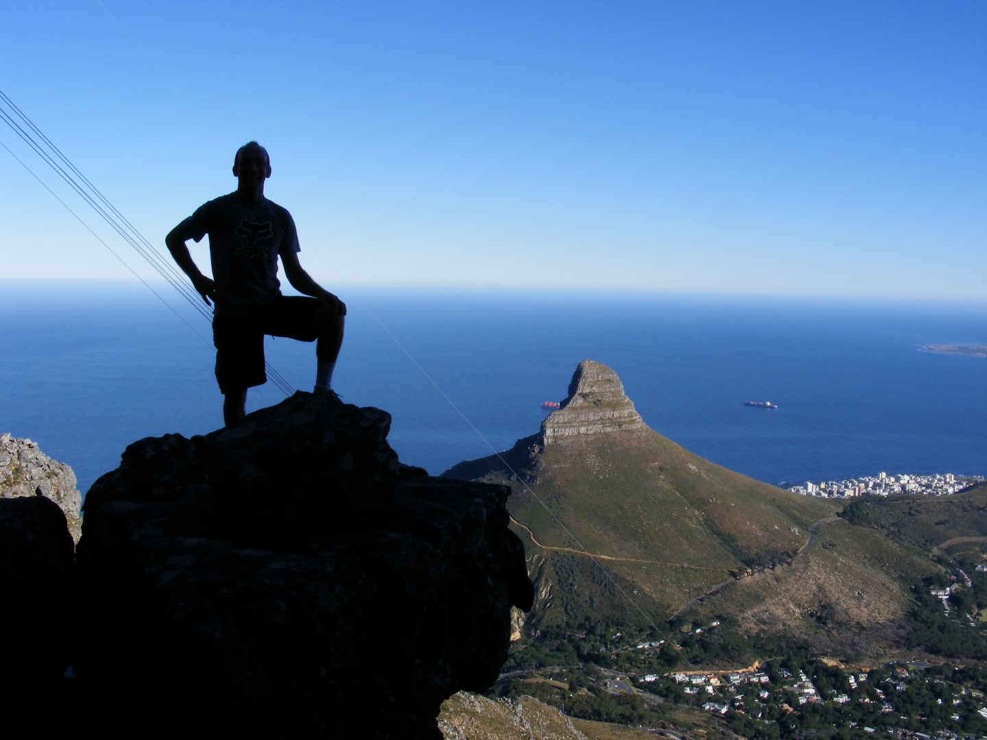 Hiker on table mountain