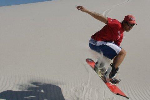 sandboarding man